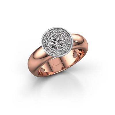 Foto van Stapelring Anna 585 rosé goud diamant 0.635 crt