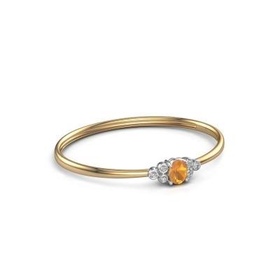Slavenarmband Lucy 585 goud citrien 8x6 mm