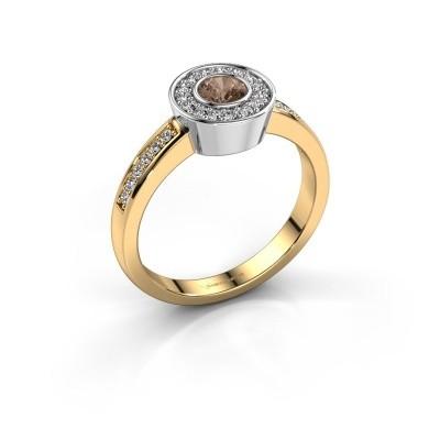 Ring Adriana 2 585 Gold Braun Diamant 0.453 crt