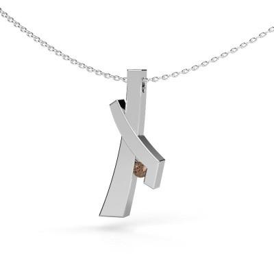 Pendentif Alyssa 585 or blanc diamant brun 0.08 crt