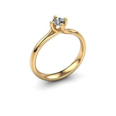 Bild von Verlobungsring Dewi Round 375 Gold Diamant 0.25 crt