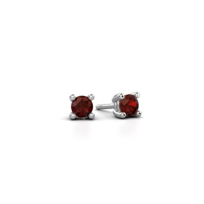 Picture of Stud earrings Sam 950 platinum garnet 4 mm