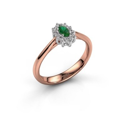 Picture of Engagement ring Leesa 1 585 rose gold emerald 6x4 mm