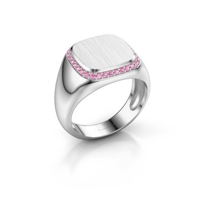 Picture of Men's ring Jesse 1 375 white gold pink sapphire 1.2 mm