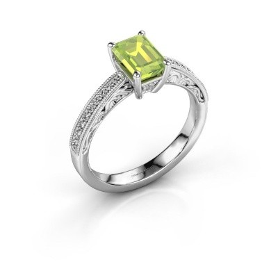 Picture of Engagement ring Shonta EME 925 silver peridot 7x5 mm