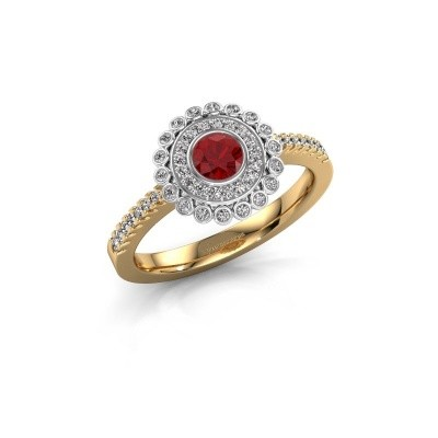 Engagement ring Shanelle 585 gold ruby 4 mm