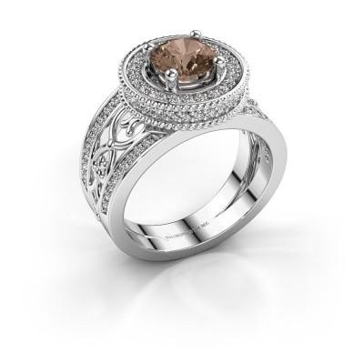 Ring Joy 950 Platin Braun Diamant 1.596 crt