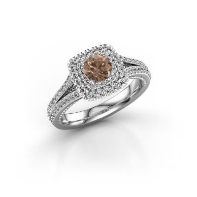 Verlobungsring Annette 950 Platin Braun Diamant 1.072 crt