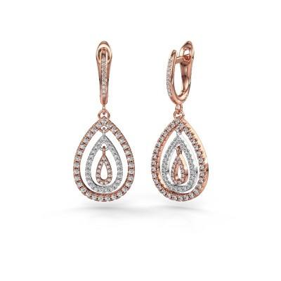 Foto van Oorhangers Marietta 2 585 rosé goud lab-grown diamant 0.852 crt
