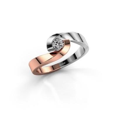 Foto van Verlovingsring Sheryl 585 rosé goud lab-grown diamant 0.20 crt