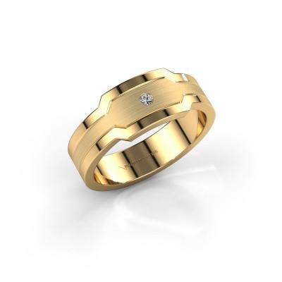 Foto van Heren ring Guido 585 goud diamant 0.03 crt