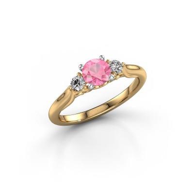 Foto van Verlovingsring Laurian RND 585 goud roze saffier 5 mm