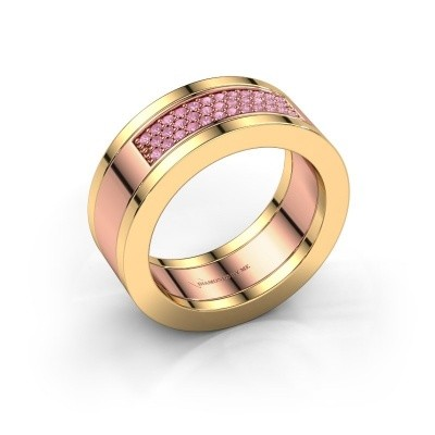 Picture of Ring Marita 1 585 rose gold pink sapphire 1.1 mm