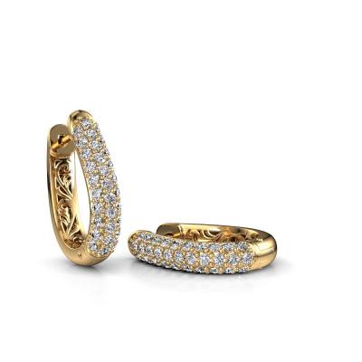 Foto van Creolen Danika 10.5 A 585 goud lab-grown diamant 1.22 crt