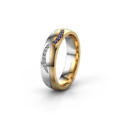 Trouwring WH2118L25A 585 goud saffier ±5x1.7 mm
