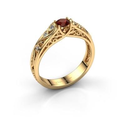 Bild von Ring Quinty 375 Gold Granat 4 mm