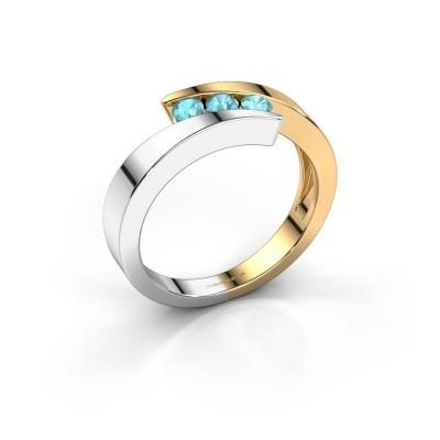 Bild von Ring Gracia 585 Gold Blau Topas 2.7 mm