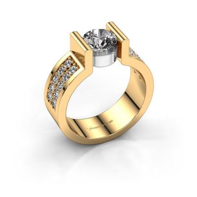Verlovingsring Isabel 3 585 goud diamant 1.40 crt