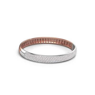 Foto van Slavenarmband Emely 8mm 585 rosé goud lab-grown diamant 3.036 crt