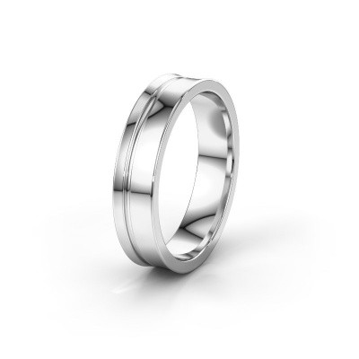 Weddings ring WH6090M55A 585 white gold ±5x1.7 mm