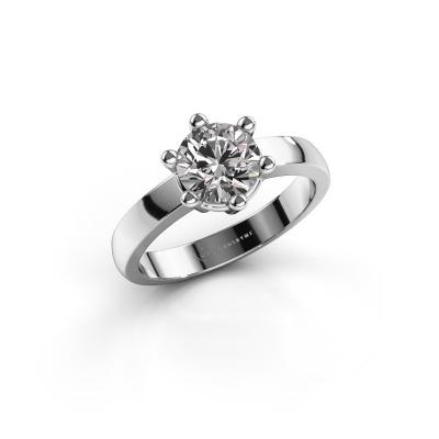 Engagement ring Luna 1 585 white gold diamond 1.00 crt