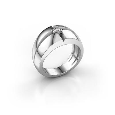 Foto van Heren ring Rens 925 zilver diamant 0.25 crt