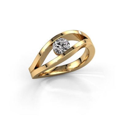 Picture of Engagement ring Sigrid 1 585 gold diamond 0.50 crt