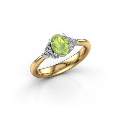 Picture of Engagement ring Aleida OVL 1 585 gold peridot 7x5 mm
