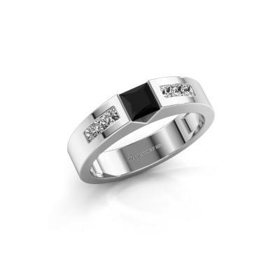 Foto van Verlovings ring Arlena 2 585 witgoud zwarte diamant 0.78 crt