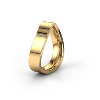 Trouwring WH2046P 375 goud diamant ±5x2.2 mm