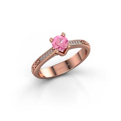 Bild von Verlobungsring Mei 375 Roségold Pink Saphir 4.7 mm
