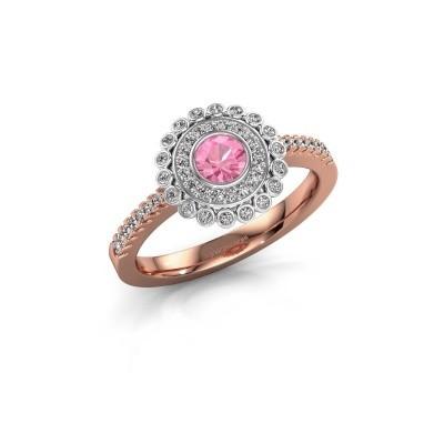 Verlobungsring Shanelle 585 Roségold Pink Saphir 4 mm