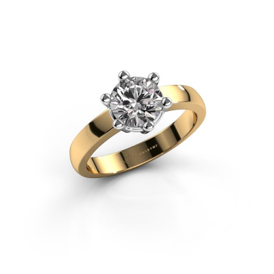 Engagement ring Luna 1 585 gold diamond 1.00 crt