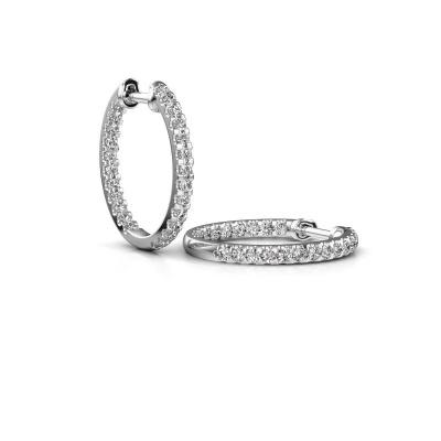 Foto van Creolen Jackie 15 mm B 585 witgoud diamant 1.08 crt