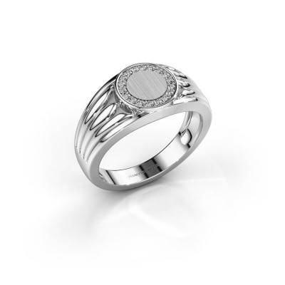 Pinky ring Jacobus 375 white gold diamond 0.135 crt