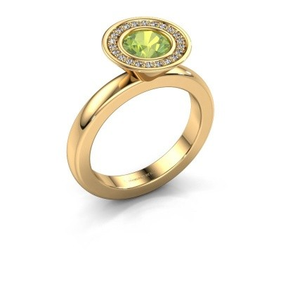Picture of Stacking ring Danille 585 gold peridot 6 mm