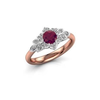 Picture of Engagement ring Tatjana 585 rose gold rhodolite 5 mm