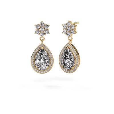 Picture of Drop earrings Era 375 gold diamond 7.22 crt