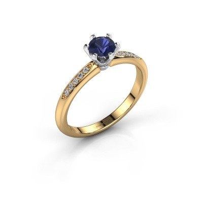 Engagement ring Tiffy 2 585 gold sapphire 4.7 mm
