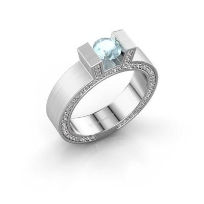 Picture of Ring Leena 2 950 platinum aquamarine 5 mm