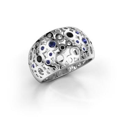 Ring Jaylinn 2 950 platina saffier 2.2 mm