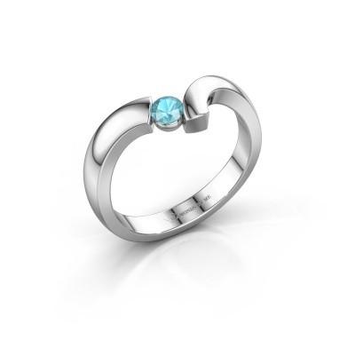 Ring Arda 925 zilver blauw topaas 3.4 mm