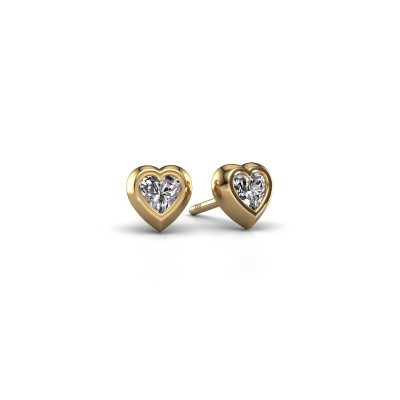 Photo de Clous d'oreilles Charlotte 585 or jaune diamant 0.50 crt