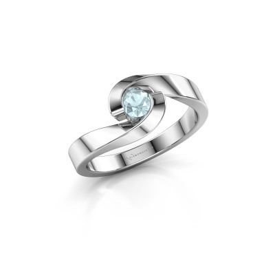 Picture of Engagement ring Sheryl 925 silver aquamarine 3.7 mm