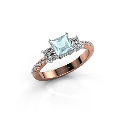Engagement ring Dorla 585 rose gold aquamarine 5 mm