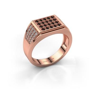 Picture of Men's ring Tim 375 rose gold black diamond 0.714 crt