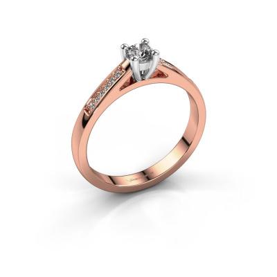 Bague de fiançailles Nynke 585 or rose diamant 0.21 crt