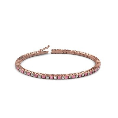 Tennis bracelet Karisma 375 rose gold pink sapphire 2.4 mm