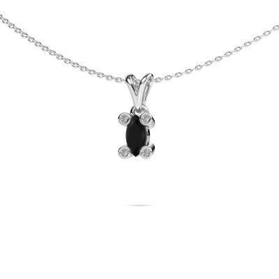 Foto van Ketting Cornelia Marquis 950 platina zwarte diamant 0.42 crt