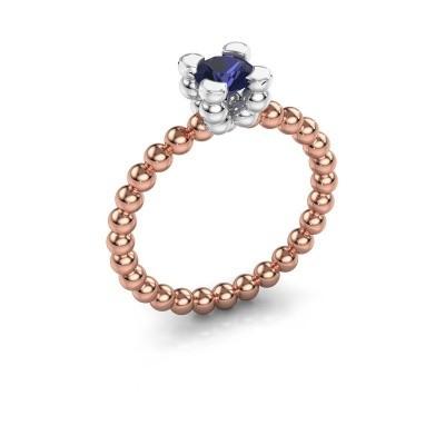 Ring Aurore 585 rosé goud saffier 5 mm
